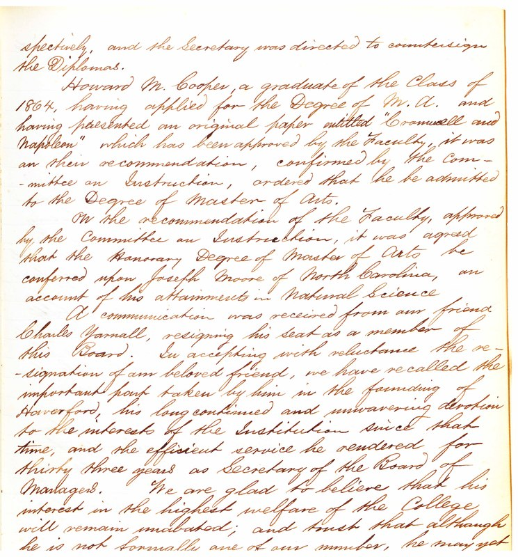 Minutes of the Board of Managers, 7/9/1867