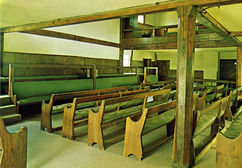 Simple Interior of the Friends Meeting House, Plainfield, New Jersey
