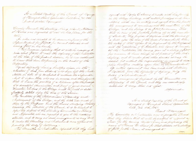 Minutes of the Board of Managers, 6/7/1861