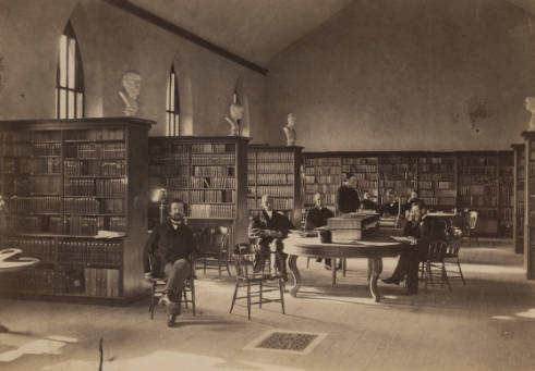 The Library in 1865