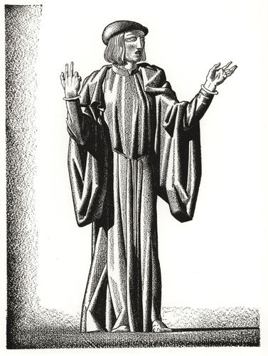 Image from<em>Forty Drawings done by Rockwell Kent to Illustrate the Works of William Shakespeare</em>