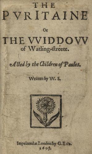 <em>ThePuritaine Widow</em>