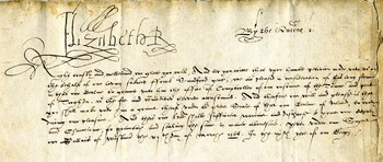 Letter from Queen Elizabeth I